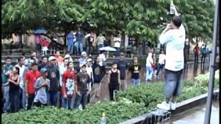 Espina Dorsal - Borrachos LIVE in Plaza Central Tegucigalpa
