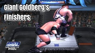 Giant Goldberg's Finishers In WWE SmackDown! Here Comes The Pain (2003)