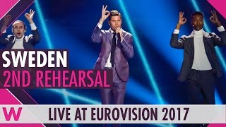 "Second rehearsal: Robin Bengtsson ""I Can't Go On"" (Sweden) Eurovision 2017 