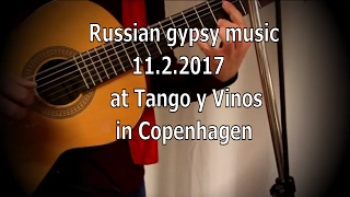 Gypsy music at Tango y Vinos 11.2.2017 in Cph.