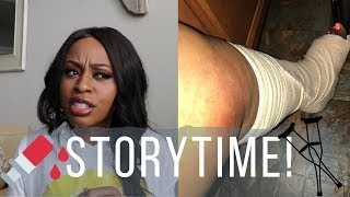 STORYTIME | I Broke My Ankle (GRAPHIC PICS INCLUDED) & Lost 100 lbs Because Of It! | Keesh Nicole TV