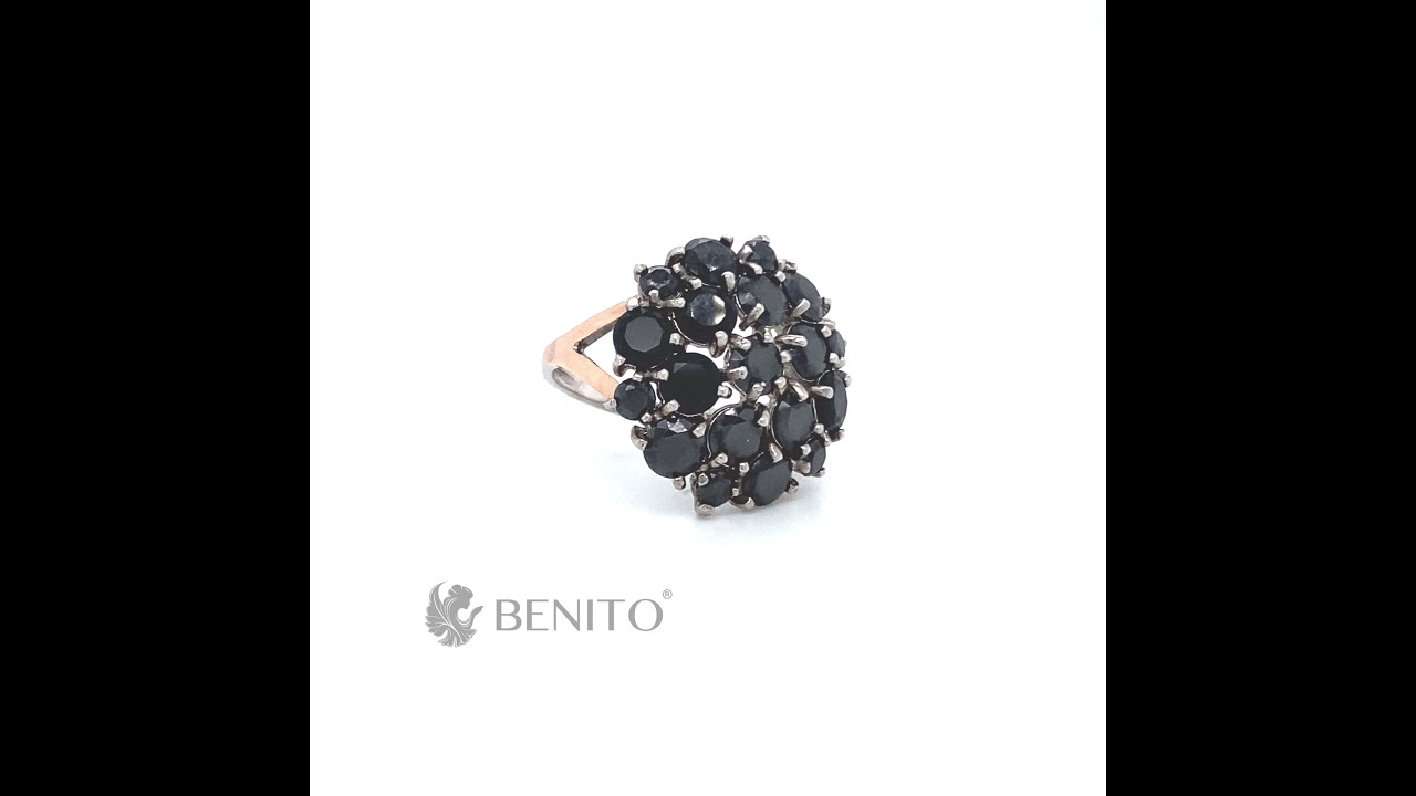 Fabrizia Ring Black Zircon Stones
