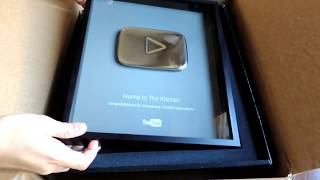 YouTube 100,000 Subscribers Silver Play Button Award by (HUMA IN THE KITCHEN)