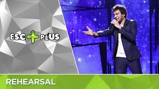 Eurovision 2016 France: Amir - J'ai cherché (Second Rehearsal) LIVE