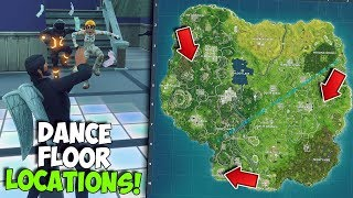 ALL DISCO DANCE FLOOR LOCATIONS IN FORTNITE | WEEK 8 CHALLENGE 'Dance On Different Dance Floors'
