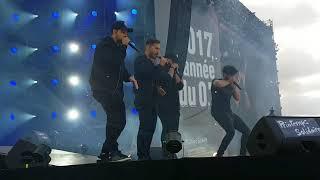 Berywam à Paris pour le #PrintempsSolidaire avec une reprise d'Eminem 😍🔥 - 17/09/2017.