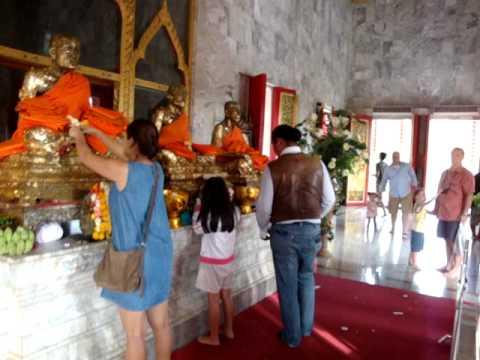 Famous Waat Chalong Phuket 29 Dec 2011  by Manoj Rana & Buddhi Gauchan  Lumbini Nepal now Thailand