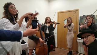 Gromee feat. Mahan Moin and Golden Gate String Quartet - Fearless Polsat SuperHit Festiwal backstage