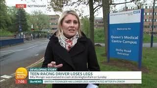 Teen Racing Driver Loses Legs   Good Morning Britain