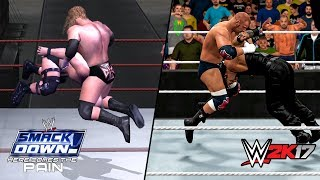 Comparing Finisher Animations Vol.1 (2K17 vs Here comes the pain)