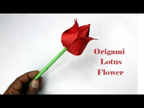 Download Thumbnail For Origami How To Make Paper Flowers Lotus