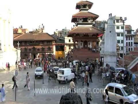 Basantapur square in Kathmandu, Nepal