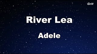 River Lea - Adele Karaoke 【No Guide Melody】 Instrumental