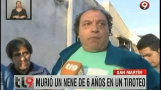 San Martín: Murió un nene de 6 años en un tiroteo
