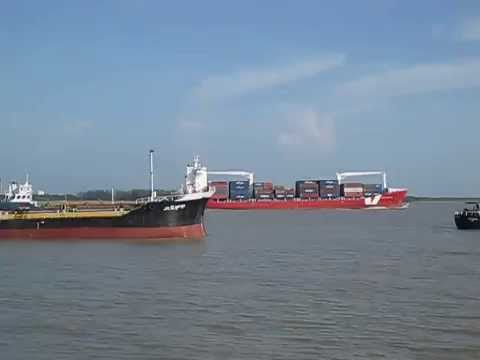 Karnaphuli River & Bay of Bengal intersetion, Chittagong Port, Patenga, Chittagong, Bangladesh