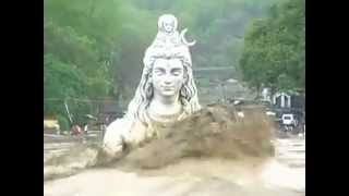 June 18, 2013   Live From Haridwar Statue of Lord Shiva, Uttrakhand worst hit as rain
