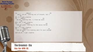 The Greatest - Sia Vocal Backing Track with chords and lyrics