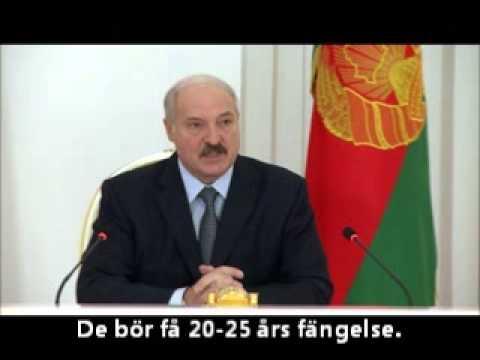 """Lukasjenkas recept mot knarkhandeln: """"Outhärdliga fängelsevillkor"""""""