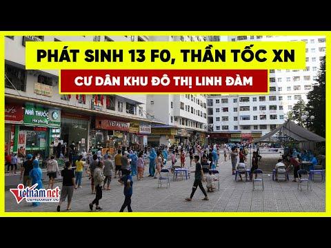 Phát sinh 13 F0, thần tốc xét nghiệm cư dân khu đô thị Linh Đàm