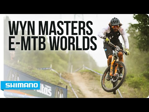 Wyn Masters' e-MTB endeavor at the World Championships | SHIMANO