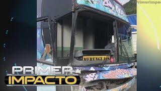 Choca el autobus del grupo musical Merenglass