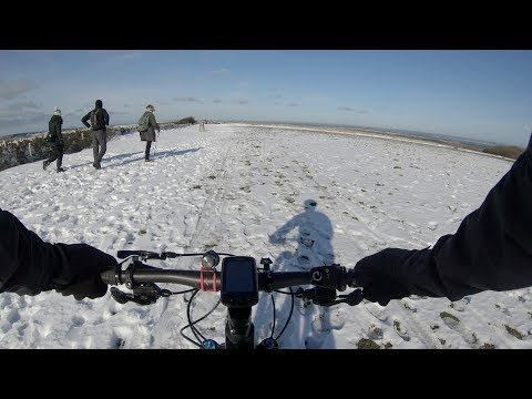 view GoPro Hero 7 black - Snowy ride to Swyre Head and on the Purbeck Hills
