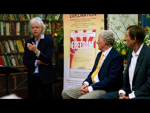 Sir Bob Geldof at the book launch of FREEDOM