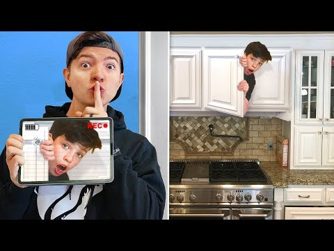 HIDE & SEEK CHEAT with HIDDEN CAMERAS! (Funny Wife Little Brother Prank)