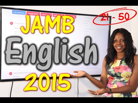 JAMB CBT English 2015 Past Questions 21 - 50