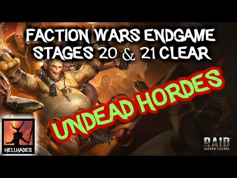 RAID: Shadow Legends | Faction Wars Undead Hordes Stages 20&21 cleared!