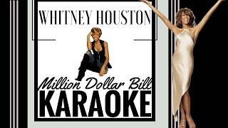 Whitney Houston - Million Dollar Bill Karaoke