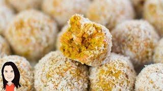 Carrot Cake Energy Balls - Easy Vegan Recipe!