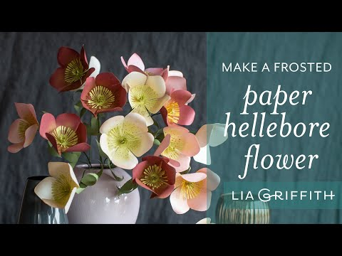 How to Make a Frosted Paper Hellebore