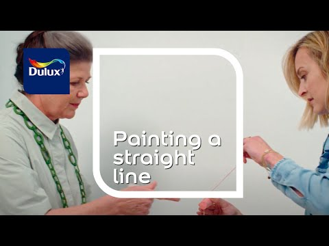 How To Paint A Straight Line - Masking Tape Line Painting |Dulux