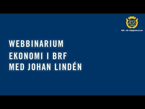 Ekonomi i Brf med Johan Lindén (WEBBINAR)