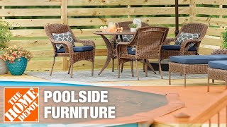 family dining polside on outdoor dining set