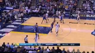 Stephen Curry's long 3Q buzzer beater vs Memphis!