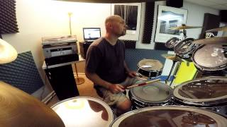 Bullets - Creed (drum cover) GoPro front view