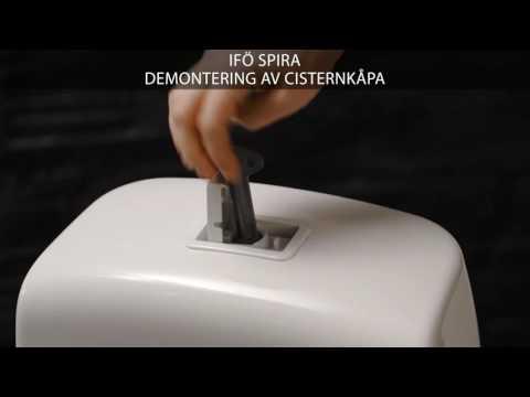 Demontering av cisternkåpa - Ifö Spira toalett