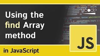 Array 'find' method in Javascript (Array.prototype.find)