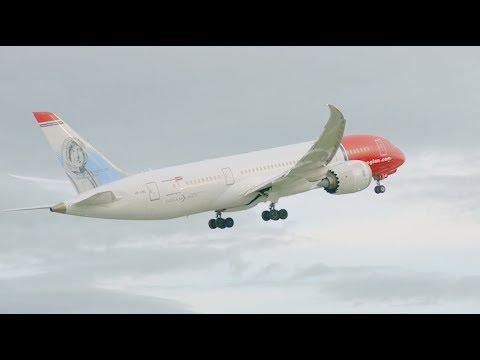 Norwegian är det grönaste flygbolaget på transatlantiska flyg