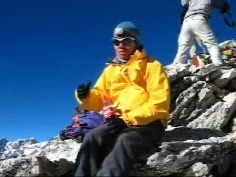 Rickie's Nepal Trip 2007 – Rickie @ Summit of Kala Patther Nepal (5540m)