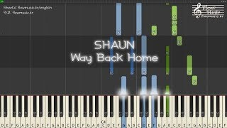 숀 (SHAUN) - Way Back Home Piano Tutorial 피아노 배우기