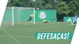 Grandes defesas no treino do Palmeiras