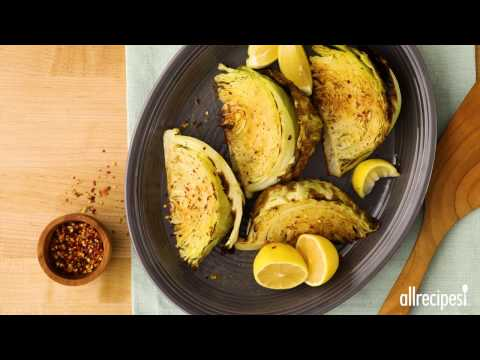 Side Dish Recipes - How to Make Roasted Cabbage