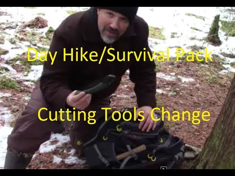 DAY HIKE/ SURVIVAL PACK, CUTTING TOOLS CHANGE