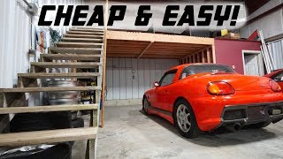 BUILDING MY OWN GARAGE LOFT!!