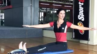Ejercicios de Pilates Mat con baston - Prof. Diana Bustamante