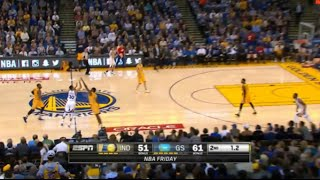 Stephen Curry hits 2 half-court buzzer beater in a row! (Pacers vs Warriors, 01.22.2016)