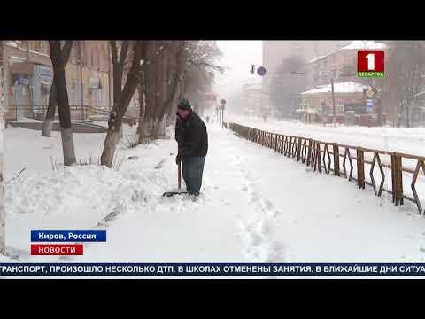 В разгар весны в российский Киров вернулась зима